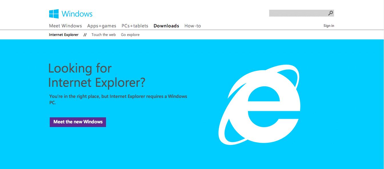 IE-homepage