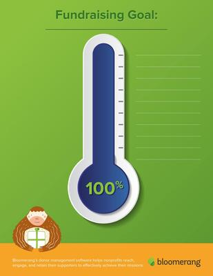 Download your fundraising thermometer template today.