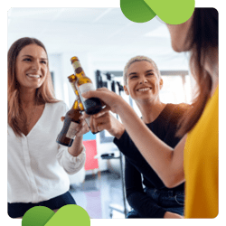 Online happy hours are a virtual fundraising idea that allow supporters to come together for a beverage and discussion.