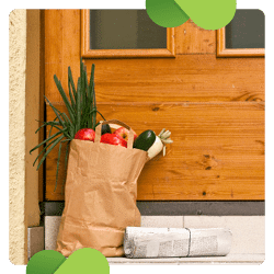 One virtual fundraising idea that you can use to engage supporters is a grocery dropoff service.